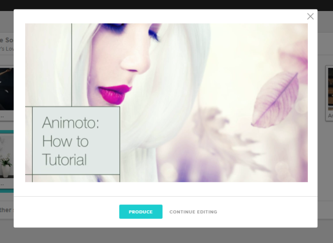 animoto rotate