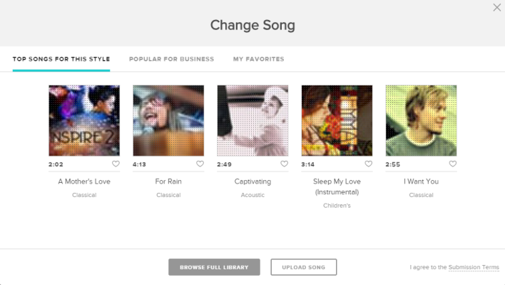 animoto song selection #1